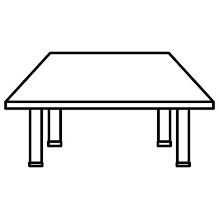 schooldesk wooden education isolated icon vector illustration design