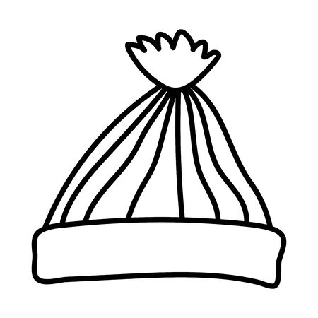 warm hat celebration merry christmas thick line