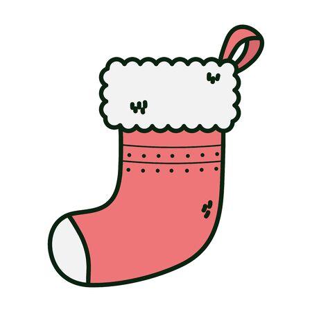 red sock decoration merry christmas Banco de Imagens - 132242391