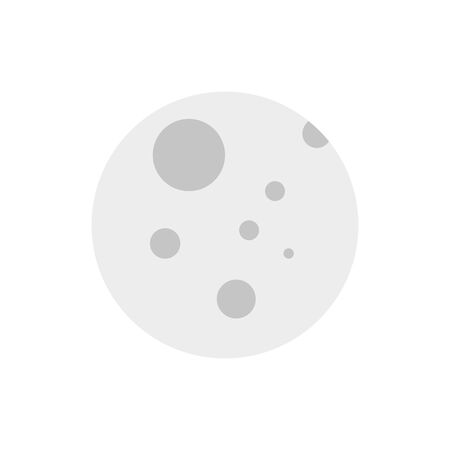 Isolated moon icon flat vector design