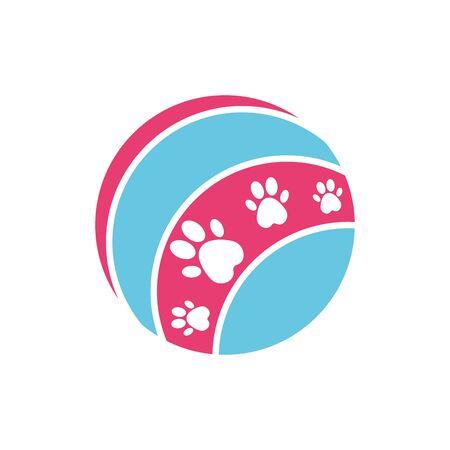 Isolated pet toy icon flat vector design Illusztráció