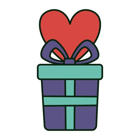 gift ribbon and heart celebration merry christmas