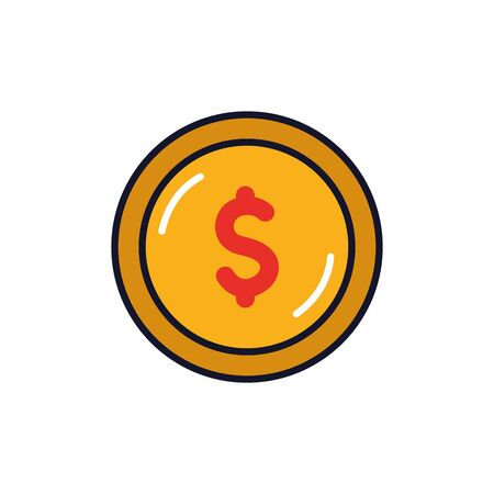 Isolated coin icon fill vector design