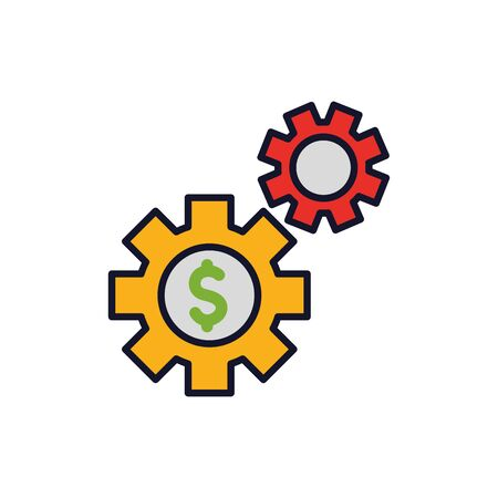 Isolated gears icon fill vector design