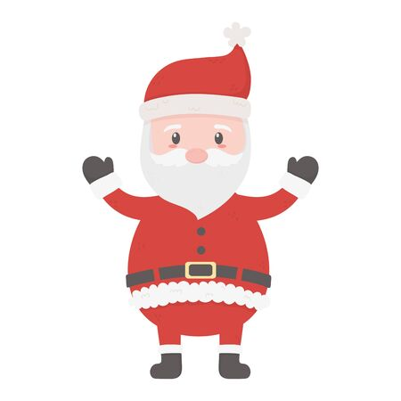 celebrating santa claus character merry christmas