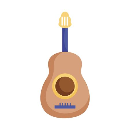 musical guitar instrument icon on white background vector illustration