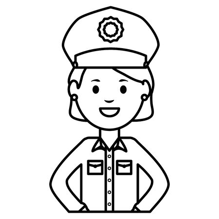 female police officer avatar character