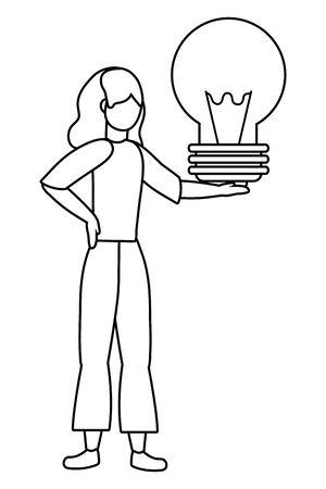 Businesswoman avatar cartoon design vector illustration Иллюстрация
