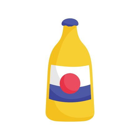 bottle drink beverage mexico icon vector illustration 向量圖像