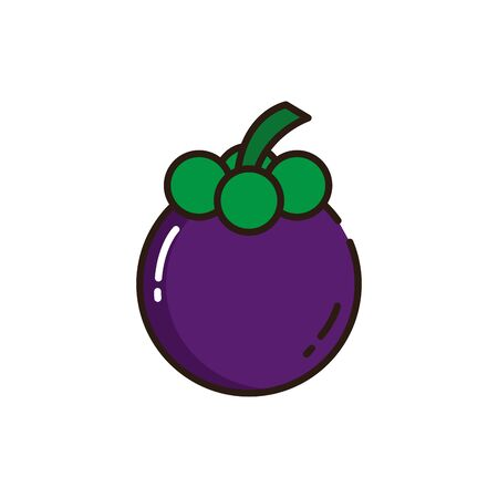 Isolated mangosteen icon fill vector design