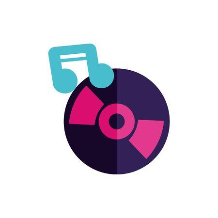 Isolated music cd icon flat vector design Archivio Fotografico - 132391359