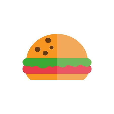 Isolated hamburger icon flat vector design
