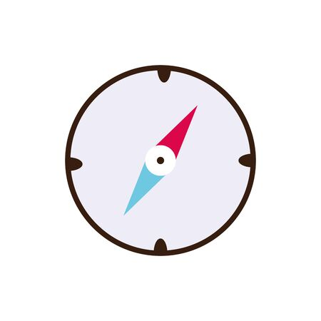 Isolated compass icon line and fill vector design