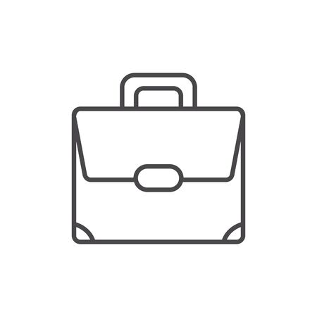 Professional suitcase design, Work occupation job corporate employee and service theme Vector illustration Ilustracja