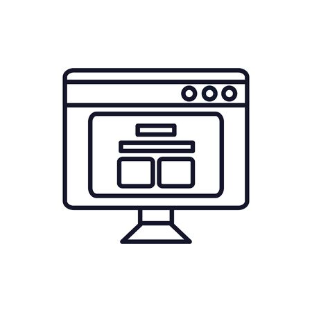Isolated computer line vector design