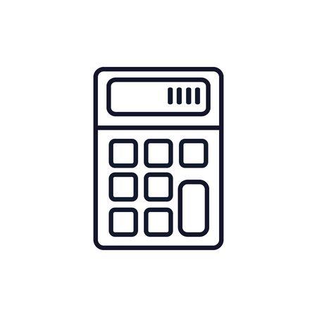 Isolated calculator icon line vector design