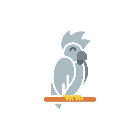 Bird icon design, Veterinary pet mascot domestic animal friendship care and lifestyle theme Vector illustration Ilustracja