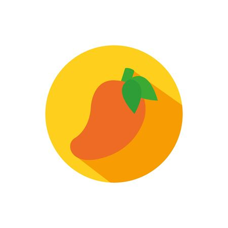 Isolated mango icon block vector design Stock Illustratie