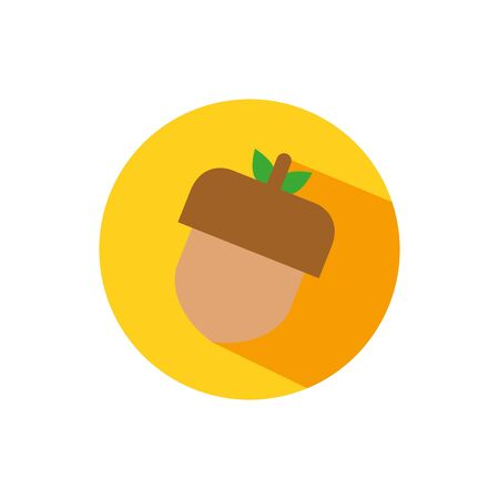 acorn icon design, Fruit healthy organic food sweet and nature theme Vector illustration