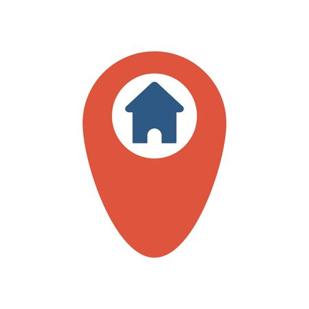 House and mark icon flat vector design
