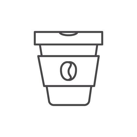Isolated coffee mug vector design