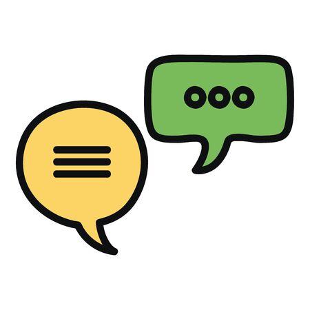 speech bubbles messages icons
