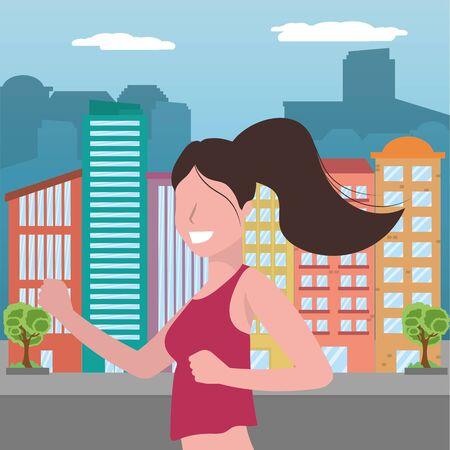 woman running portrait