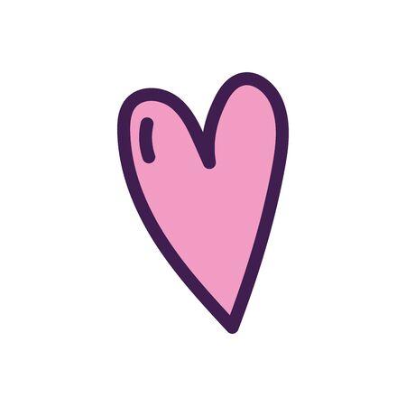 love heart romatic passion icon on white background vector illustration Ilustração