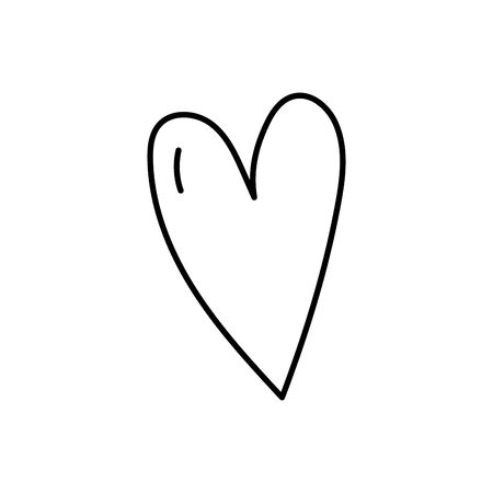 love heart romatic passion icon on white background vector illustration thick line