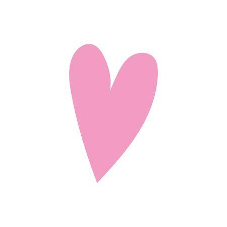 love heart romatic passion icon Ilustração