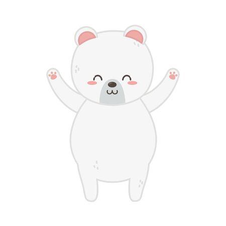 cute polar bear hands up Zdjęcie Seryjne - 132609988