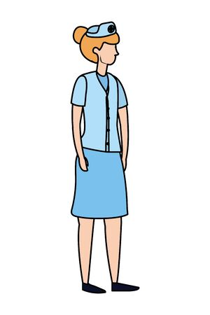 healthcare medical doctor woman cartoon vector illustration graphic design