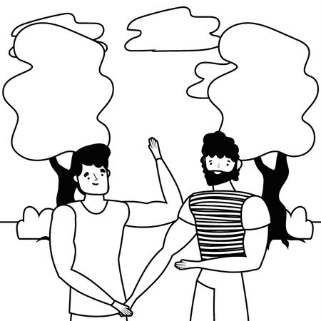 Avatar men design, Boys males friends person and human theme Vector illustration Illustration