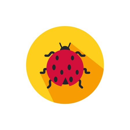 ladybug design, insect animal wings nature summer beauty and spring theme Vector illustration