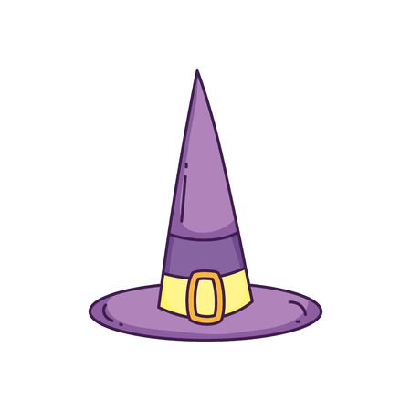 Happy halloween celebration purple witch hat