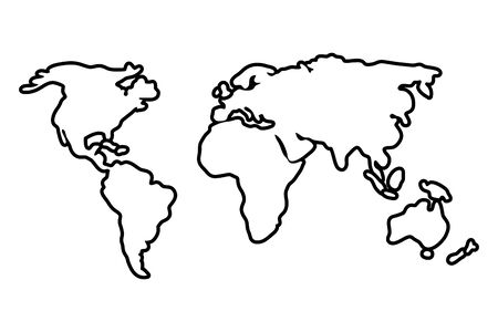 Isolated map design on white