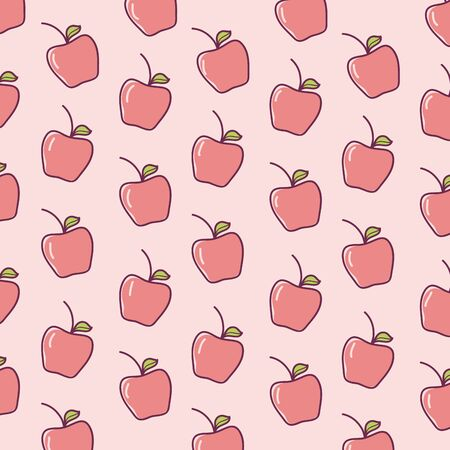 Apples fruits cartoons