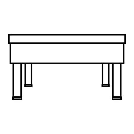 School desk wooden on white 向量圖像