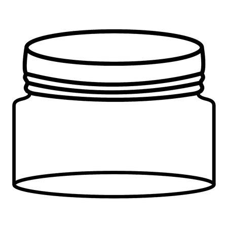 Mason jar glass with lid