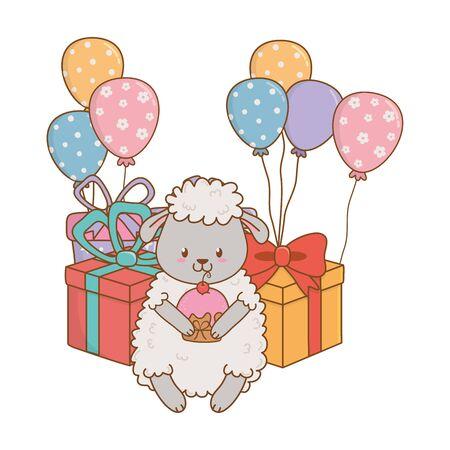Cute adorable animal cartoon Stock Vector - 132735497