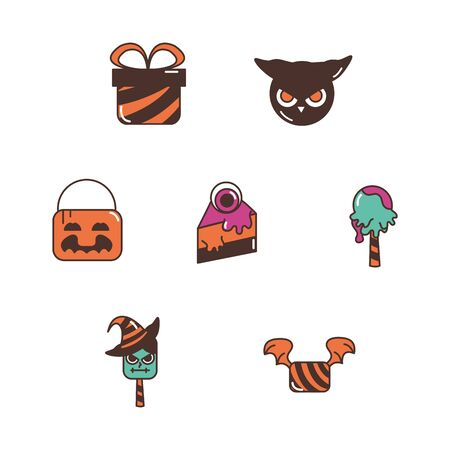 trick or treat - happy halloween Illustration