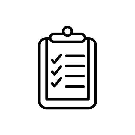 clipboard check mark delivery icon thick line