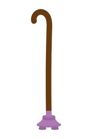 Isolated walking stick design vector illustration