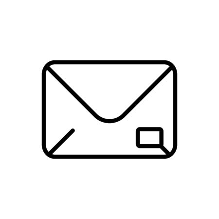 mail postcard delivery icon thick line Illustration
