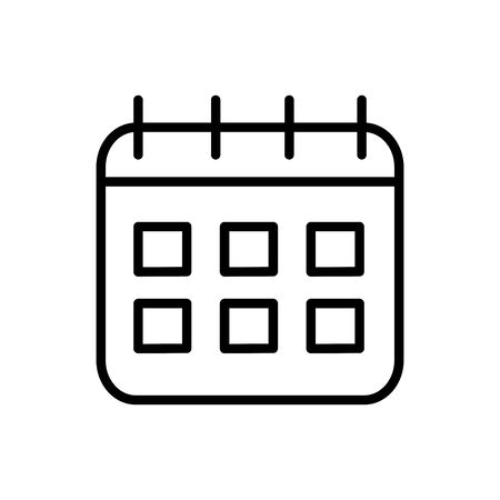 calendar reminder delivery icon vector illustration thick line Иллюстрация