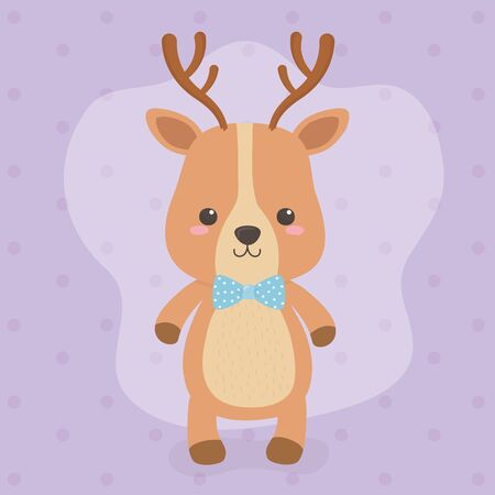 cute and little reindeer character