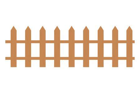 Illustrateur de vecteur de conception de clôture en bois isolé