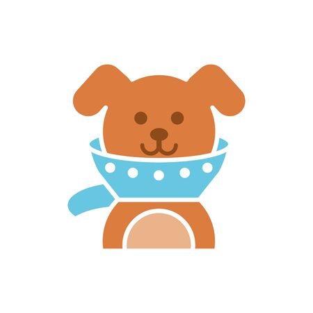 Isolated dog icon flat vector design
