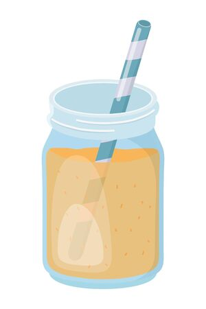 orange juice drink design vector illustration Çizim