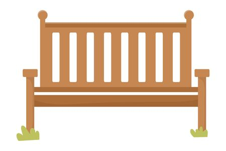 Bench design, Fence park nature outdoor season spring and summer theme Vector illustration